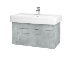 Dreja - Kúpeľňová skriňa Q UNO SZZ 80 - D01 Beton / Úchytka T02 / D01 Beton (150877B)