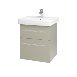 Dreja - Kúpeľňová skriňa Q MAX SZZ2 55 - L04 Béžová vysoký lesk / Úchytka T02 / L04 Béžová vysoký lesk (114831B)