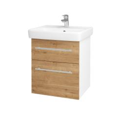 Dreja - Kúpeľňová skriňa Q MAX SZZ2 55 - N01 Bílá lesk / Úchytka T02 / D09 Arlington (114633B)