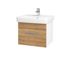 Dreja - Kúpeľňová skriňa Q UNO SZZ 55 - N01 Bílá lesk / Úchytka T01 / D09 Arlington (150402A)