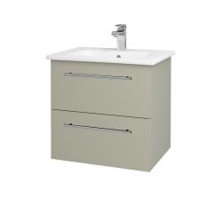 Dreja - Kúpeľňová skriňa GIO SZZ2 60 - L04 Béžová vysoký lesk / Úchytka T02 / L04 Béžová vysoký lesk (146399B)