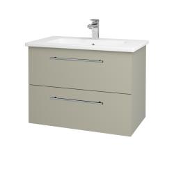 Dreja - Kúpeľňová skriňa GIO SZZ2 80 - L04 Béžová vysoký lesk / Úchytka T02 / L04 Béžová vysoký lesk (146443B)