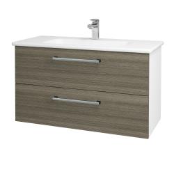 Dreja - Kúpeľňová skriňa GIO SZZ2 100 - N01 Bílá lesk / Úchytka T03 / D03 Cafe (129620C)