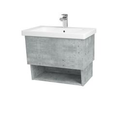 Dreja - Kúpeľňová skriňa INVENCE SZZO 65 (umývadlo Harmonia) - D01 Beton / D01 Beton (146979)