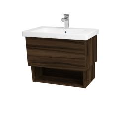 Dreja - Kúpeľňová skriňa INVENCE SZZO 65 (umývadlo Harmonia) - D06 Ořech / D06 Ořech (147006)