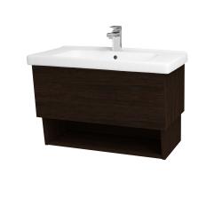 Dreja - Kúpeľňová skriňa INVENCE SZZO 80 (umývadlo Harmonia) - D08 Wenge / D08 Wenge (147198)