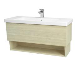 Dreja - Kúpeľňová skriňa INVENCE SZZO 100 (umývadlo Harmonia) - D04 Dub / D04 Dub (147488)