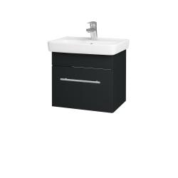 Dreja - Kúpeľňová skriňa SOLO SZZ 50 - L03 Antracit vysoký lesk / Úchytka T02 / L03 Antracit vysoký lesk (150082B)