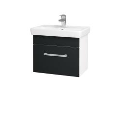 Dreja - Kúpeľňová skriňa SOLO SZZ 55 - N01 Bílá lesk / Úchytka T03 / L03 Antracit vysoký lesk (150204C)