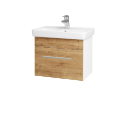 Dreja - Kúpeľňová skriňa SOLO SZZ 55 - N01 Bílá lesk / Úchytka T02 / D09 Arlington (150129B)