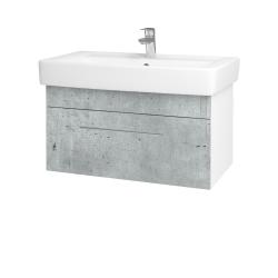 Dreja - Kúpeľňová skriňa Q UNO SZZ 80 - N01 Bílá lesk / Úchytka T02 / D01 Beton (150815B)