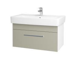 Dreja - Kúpeľňová skriňa Q UNO SZZ 80 - N01 Bílá lesk / Úchytka T01 / L04 Béžová vysoký lesk (150914A)