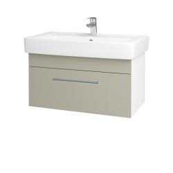 Dreja - Kúpeľňová skriňa Q UNO SZZ 80 - N01 Bílá lesk / Úchytka T03 / L04 Béžová vysoký lesk (150914C)