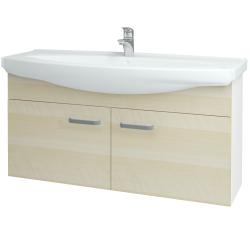 Dreja - Kúpeľňová skriňa TAKE IT SZD2 120 - N01 Bílá lesk / Úchytka T01 / D02 Bříza (152291A)