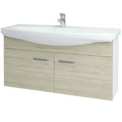 Dreja - Kúpeľňová skriňa TAKE IT SZD2 120 - N01 Bílá lesk / Úchytka T01 / D05 Oregon (152321A)