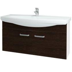 Dreja - Kúpeľňová skriňa TAKE IT SZD2 120 - N01 Bílá lesk / Úchytka T01 / D08 Wenge (152345A)