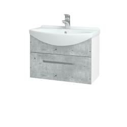 Dreja - Kúpeľňová skriňa TAKE IT SZZ 65 - N01 Bílá lesk / Úchytka T01 / D01 Beton (152376A)