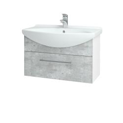 Dreja - Kúpeľňová skriňa TAKE IT SZZ 75 - N01 Bílá lesk / Úchytka T03 / D01 Beton (152468C)