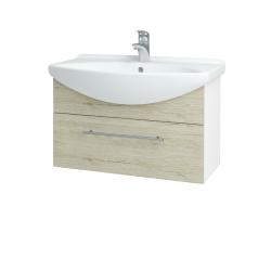 Dreja - Kúpeľňová skriňa TAKE IT SZZ 75 - N01 Bílá lesk / Úchytka T02 / D05 Oregon (152505B)