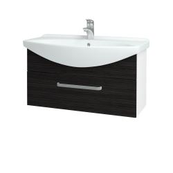 Dreja - Kúpeľňová skriňa TAKE IT SZZ 85 - N01 Bílá lesk / Úchytka T01 / D14 Basalt (152635A)