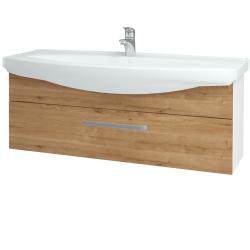 Dreja - Kúpeľňová skriňa TAKE IT SZZ 120 - N01 Bílá lesk / Úchytka T01 / D09 Arlington (152802A)
