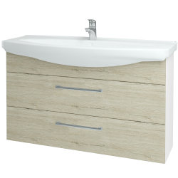 Dreja - Kúpeľňová skriňa TAKE IT SZZ2 120 - N01 Bílá lesk / Úchytka T03 / D05 Oregon (153274C)