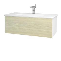 Dreja - Kúpeľňová skriňa VARIANTE SZZ 100 (umývadlo Euphoria) - N01 Bílá lesk / D04 Dub (160487)