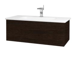 Dreja - Kúpeľňová skriňa VARIANTE SZZ 100 (umývadlo Euphoria) - D08 Wenge / D08 Wenge (160395)