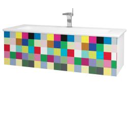 Dreja - Kúpeľňová skriňa VARIANTE SZZ 120 (umývadlo Euphoria) - N01 Bílá lesk / IND Individual (161101)