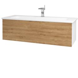 Dreja - Kúpeľňová skriňa VARIANTE SZZ 120 (umývadlo Euphoria) - N01 Bílá lesk / D09 Arlington (161088)