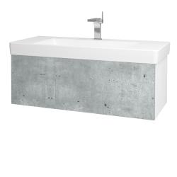 Dreja - Kúpeľňová skriňa VARIANTE SZZ 105 - N01 Bílá lesk / D01 Beton (164362)