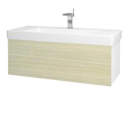 Dreja - Kúpeľňová skriňa VARIANTE SZZ 105 - N01 Bílá lesk / D04 Dub (164393)