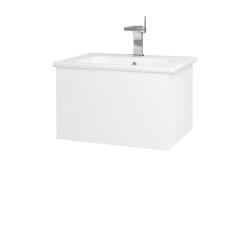 Dreja - Kúpeľňová skriňa VARIANTE SZZ 60 (umývadlo Euphoria) - N01 Bílá lesk / L01 Bílá vysoký lesk (159443)