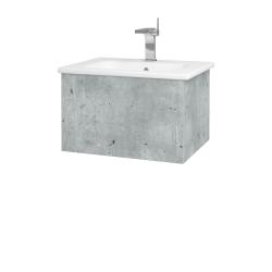 Dreja - Kúpeľňová skriňa VARIANTE SZZ 60 (umývadlo Euphoria) - D01 Beton / D01 Beton (159221)