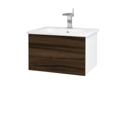 Dreja - Kúpeľňová skriňa VARIANTE SZZ 60 (umývadlo Euphoria) - N01 Bílá lesk / D06 Ořech (159399)