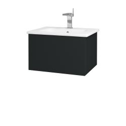 Dreja - Kúpeľňová skriňa VARIANTE SZZ 60 (umývadlo Euphoria) - L03 Antracit vysoký lesk / L03 Antracit vysoký lesk (159320)