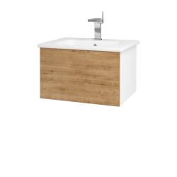 Dreja - Kúpeľňová skriňa VARIANTE SZZ 60 (umývadlo Euphoria) - N01 Bílá lesk / D09 Arlington (159412)