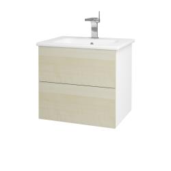 Dreja - Kúpeľňová skriňa VARIANTE SZZ2 60 (umývadlo Euphoria) - N01 Bílá lesk / D02 Bříza (159634)