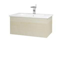 Dreja - Kúpeľňová skriňa VARIANTE SZZ 80 (umývadlo Euphoria) - D02 Bříza / D02 Bříza (159795)
