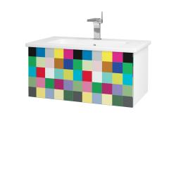 Dreja - Kúpeľňová skriňa VARIANTE SZZ 80 (umývadlo Euphoria) - N01 Bílá lesk / IND Individual (159979)