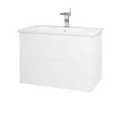 Dreja - Kúpeľňová skriňa VARIANTE SZZ2 80 (umývadlo Euphoria) - N01 Bílá lesk / L01 Bílá vysoký lesk (160258)
