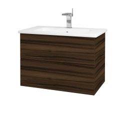 Dreja - Kúpeľňová skriňa VARIANTE SZZ2 80 (umývadlo Euphoria) - D06 Ořech / D06 Ořech (160081)