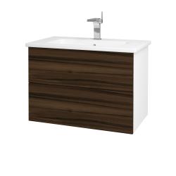 Dreja - Kúpeľňová skriňa VARIANTE SZZ2 80 (umývadlo Euphoria) - N01 Bílá lesk / D06 Ořech (160203)