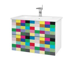 Dreja - Kúpeľňová skriňa VARIANTE SZZ2 80 (umývadlo Euphoria) - N01 Bílá lesk / IND Individual (160241)