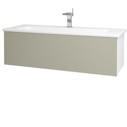Dreja - Kúpeľňová skriňa VARIANTE SZZ 120 (umývadlo Euphoria) - N01 Bílá lesk / L04 Béžová vysoký lesk (161132)