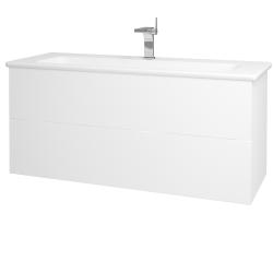 Dreja - Kúpeľňová skriňa VARIANTE SZZ2 120 (umývadlo Euphoria) - N01 Bílá lesk / L01 Bílá vysoký lesk (161392)