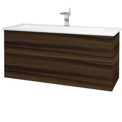 Dreja - Kúpeľňová skriňa VARIANTE SZZ2 120 (umývadlo Euphoria) - D06 Ořech / D06 Ořech (161224)
