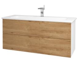 Dreja - Kúpeľňová skriňa VARIANTE SZZ2 120 (umývadlo Euphoria) - N01 Bílá lesk / D09 Arlington (161361)