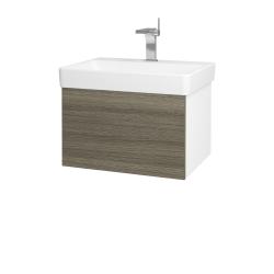 Dreja - Kúpeľňová skriňa VARIANTE SZZ 60 - N01 Bílá lesk / D03 Cafe (162719)