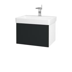 Dreja - Kúpeľňová skriňa VARIANTE SZZ 60 - N01 Bílá lesk / L03 Antracit vysoký lesk (162801)